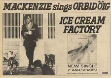 23/10/82Pgn07 Advert: Mackenzie Sing Orbidoig ice Cream Factory 7x11