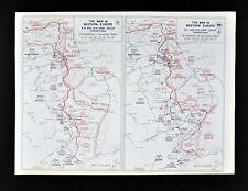 West Point WWII Map Western Front Siegfried Line Battle of Aachen Germany Patton
