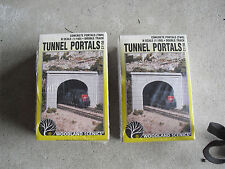Lot of 2 N Scale Woodland Scenics Tunnel Portals Kits NIB C1156