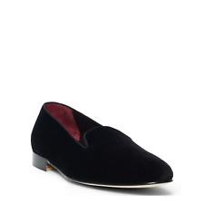 Ralph Lauren Purple Label Black Collis Velvet Slippers Shoes New $650