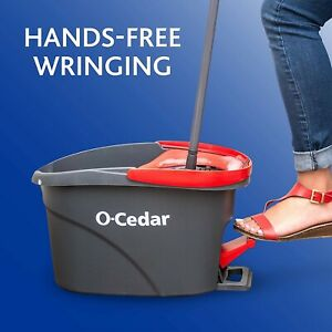new Spin Mop hands free Wring Microfiber, with bucket, Machine-Washable,