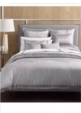 Hotel Collection Muse King Duvet Cover Grey contemporary $420
