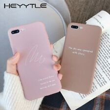 Cute Pink Girl Soft TPU Romance Quotes Case For iPhone 7 8 Plus 6 6s X XR XS Max