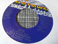 Billy Preston 45 Hope/Sock-It, Rocket Motown 1505 Modern Soul Funk NM-