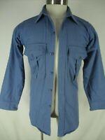 Eddie Bauer Mens Blue Long Sleeve Cotton Chamois Shirt S USA Made