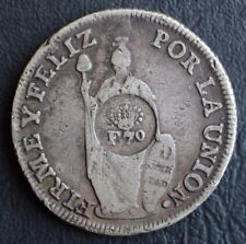 Rare Extra Fine! 8 reales 1830 Philippines-Peru F7o Centered Counter Stamped