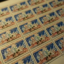 FEUILLE SHEET ALGÉRIE N°421 x25 JOURNÉE MÉTÉOROLOGIQUE 1966 NEUF ** MNH COTE 41€