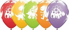 """25 x 11"""" Round Cute & Cuddly dinosaurs party balloons"""