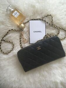 Chanel Authentic Wallet on Adjustable Chain WOC