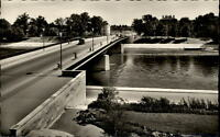 Ingolstadt an der Donau Postkarte ~1950/60 Blick auf die Donaubrücke Lastwagen