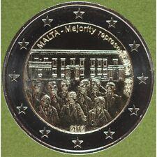 """2012 MALTA  2 Euro """" RAPPRESENTANZA MAGGIORITARIA DEL 1887 """" NC. FDC"""