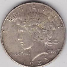 USA 1935S SILVER PEACE DOLLAR IN NEAR EXTREMELY FINE CONDITION