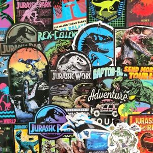 10-50 Jurassic Park Dinosaurs Stickers Vinyl Decal Luggage Laptop Car Skateboard