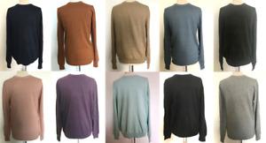 M&S Mens Jumper Crew Neck New Pure Cotton Size Small - 4XL Free P&P Black etc..