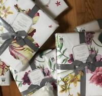 Pottery Barn Isabella Duvet Cover Set King 2 King Shams Tulip Floral New