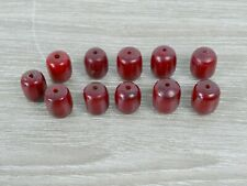 Good Vintage Phenolic Cherry Amber Bakelite Beads 25.1g |136
