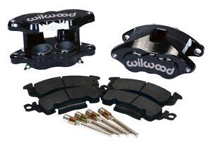 Wilwood D52 Front Caliper Kit - Black Pwdr 2.00 / 2.00in Piston 1.04in Rotor