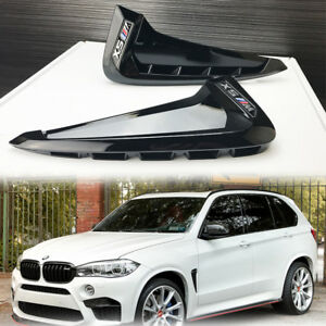 BMW F15 X5 2014-17 Gloss Black Side Vent Fender Trim ///M Type Marker