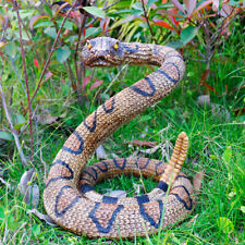Rattlesnake Garden Decor Statue Yard Decorations Art Snake Toy Vinyl Resin Gift