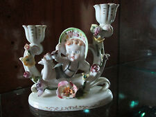Hand Painted UCAGCO Vintage CHINA Double Candleabra Ornate Baby Made in JAPAN