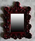 Wall Mirror Red Black 64x54 Antique Baroque Repro Shabby Ornaments