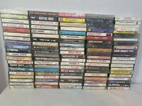 100 CLASSIC COUNTRY CASSETTE TAPES -GEORGE JONES,WILLIE NELSON,GEORGE STRAIT +