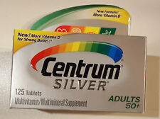 Centrum Silver Multivitamins/Multimineral Adults 50+ exp 07/2019 - 125 Tablets