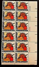 US Stamps, Scott #1723-24 13c 1977 'Energy' Plate Block of 12 XF/S M/NH
