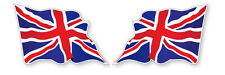 2x LARGE UNION JACK BRITISH WAVY FLAG VINYL CAR VAN IPAD LAPTOP HELMET STICKER