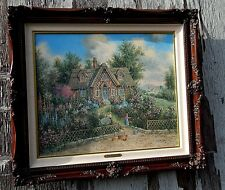 "Dennis Patrick Lewan, Painting: ""Beary Patch Cottage.""  Mint Condition."