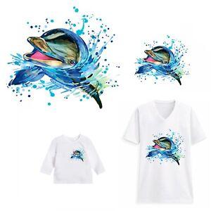 Dolphin head Heat Transfer - Flipper aquatic animal fish dolphins swim swimming