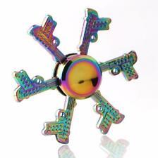 Rainbow 6 gun Hand Spinner Metal Fidget Kids Stress Relieve Finger Toys Gift