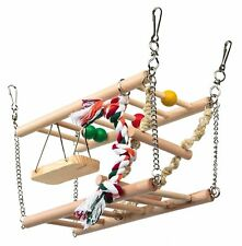 Suspension Bridge 2 Storeys Hammock Swing Wooden Activity Toy Hamster Gerbil Rat
