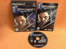 Wolverine's Revenge Playstation 2 PS2 Super Fast FREE SHIP Complete!