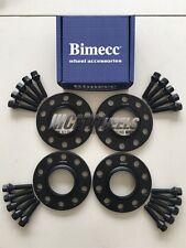 2 x 12 mm + 2 x 15 mm Black Alloy Wheel Spacers Black bolts-BMW f20 f21 f22 f23