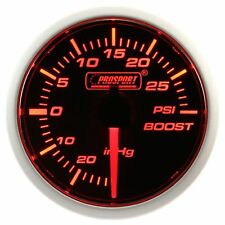 PROSPORT 52mm Amber Red & White Led Smoke Face Mechanical Turbo Boost Gauge PSI