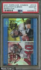 2001 Topps Chrome Combos Refractor Drew Brees RC Rookie PSA 10 GEM MINT
