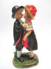 Schwarzwald Paar mit Tracht Poly Figur 13 cm Black Forest Souvenir