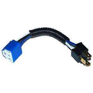 "7"" Headlight Ceramic H4 Hi Heat Headlamp Light Bulb Wiring Harness Socket Plug"