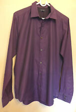 "Ted Baker Size 3 (Pit to pit 20"") purple mix Egyptian cotton long-sleeved shirt"