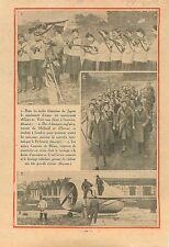 Maneuvers Schoolgirls Weapons Guns Japan Japon/Factory Caproni 1932 ILLUSTRATION