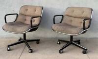 Set Of 2 Vintage Mid Century Modern Knoll Pollock Executive Office Chairs