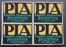 Cinderella Poster Stamp Germany Papier Industrie Ausstellung Berlin 1913 (7592)