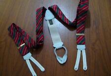 CLASSIC Trafalgar Red/Green/White Triple Stripe Braces/Suspenders NWOT