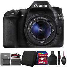 Canon EOS 80D Digital SLR Camera with 18-55mm Lens and Accessory Bundle