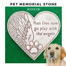 Pet Memorial Plaque Garden Stepping Stone - Dog Paw print - Grave Head Marker