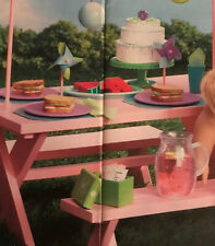 American Girl Chrissa Party Treats NRFB Retired Cake Watermelon Cups Pitcher