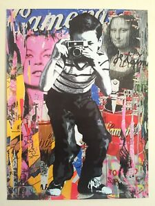 "MR. BRAINWASH "" SMILE "" RARE AUTHENTIC LITHOGRAPH PRINT POP ART POSTER"