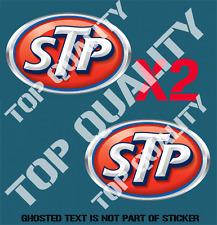 VINTAGE STP MOTOR OIL Decal Sticker X2 Petroliana Mancave Garage Stickers
