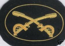 Large Civil War Hat Cap Badge Army Uniform Union Horse Sword Saber Cavalry Patch